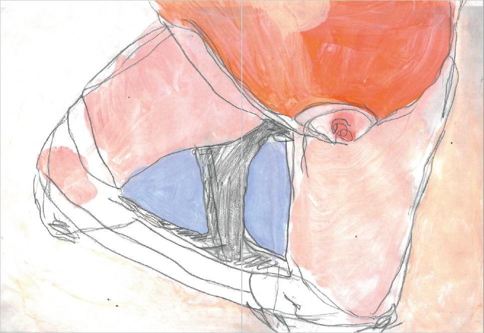 Colorierte Zeichnung von Jeanne Schmidt