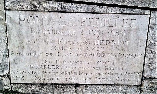 Pont la Feuillée Lyon 5ème