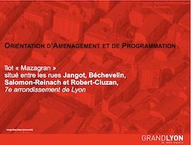 Orientation d'Aménagement et de Programmation de l'îlot Mazagran : un cahier de préconisations