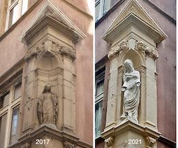 Un nouvelle Vierge à l'angle des  rues Tavernier et de la Vieille