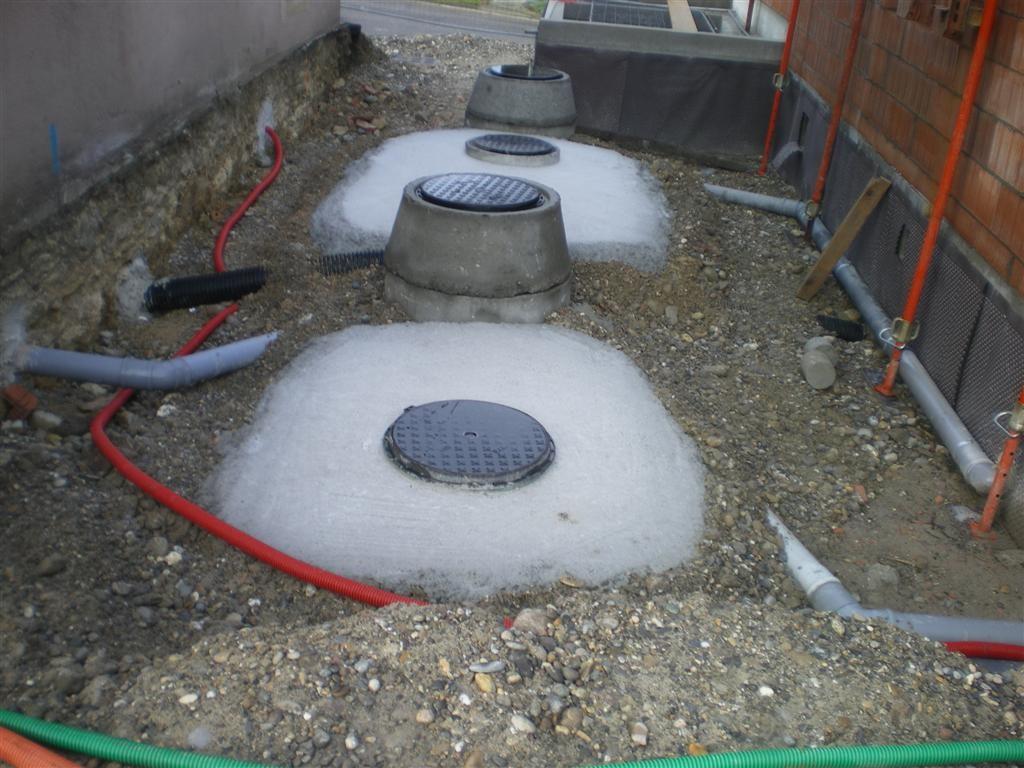 Semaine 4 : pose de béton sur les fosses et le filtre