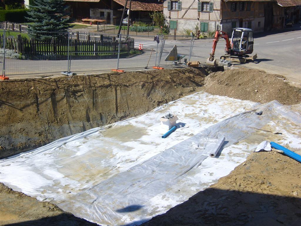 Lundi 12.09,2011 mise en place du drainage