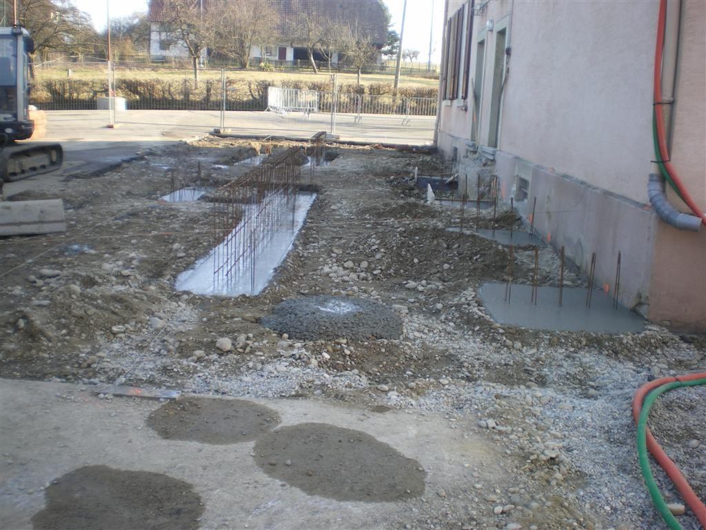 Semaine 9 : reprise des travaux après une quinzaine de grand froid qui rappelle un certain hiver 56.