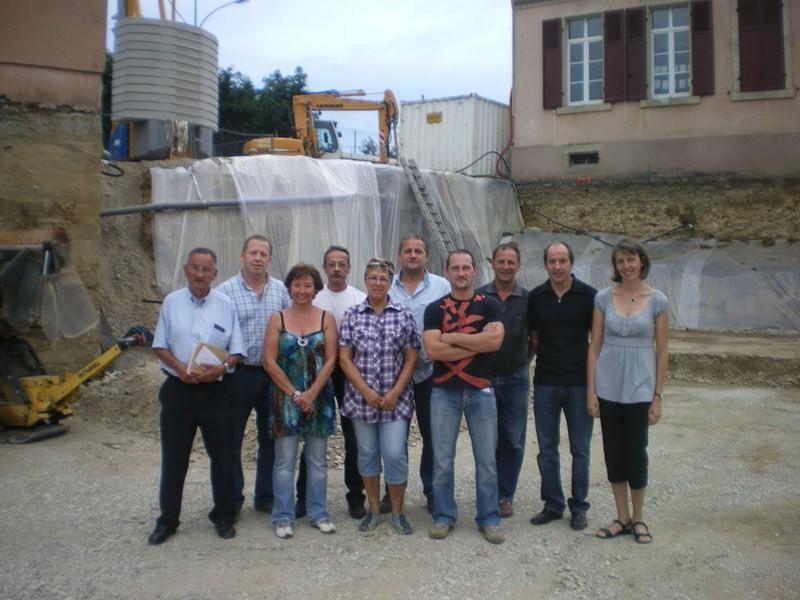 16.09.2011, première visite de chantier du conseil municipal, qui voit enfin se concrétiser le travail de plusieurs mois d'études, de visites et de débats.