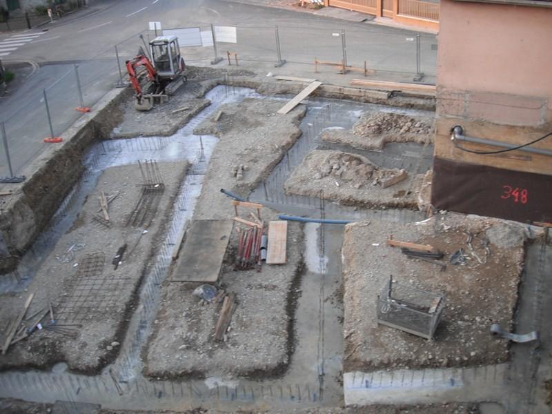 Semaine 38/39 2011 les fondations sont coulées