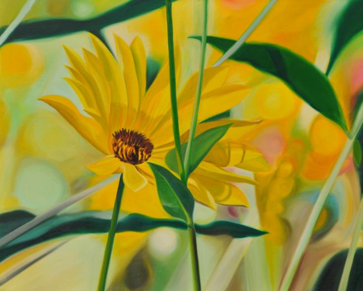 Sonnenauge, 80 x 100 cm