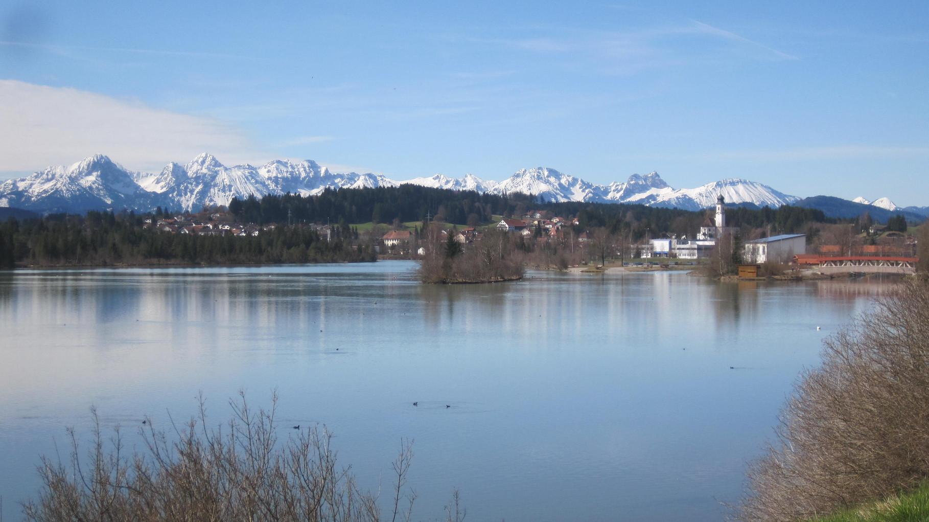 Lechbruck und die Berge