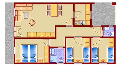 Grundrissbeispiel Haus Typ B