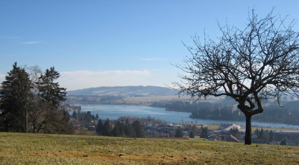 Blick vom Golfplatz auf Lechbruck