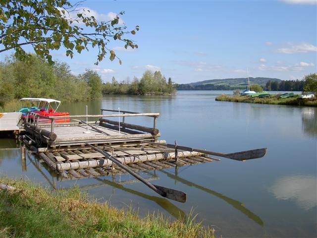 Floß auf dem Lechsee