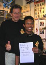 Uwe Marschall und sein Partner von Mahafaly und Zazafaly e.V. aus Madagaskar