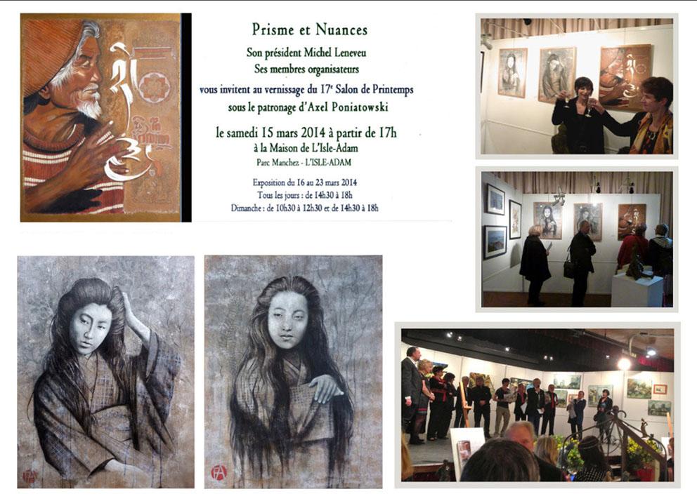 2014 - salon de printemps - l'isle adam -Val d'Oise