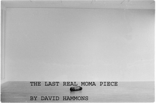 THE LAST REAL INSTILATION OF DAVID HAMMONS
