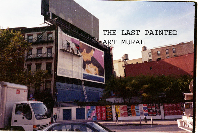 THE LAST PAINTED ART MURIAL