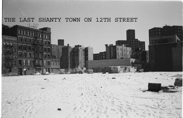 THE LAST SHANTY TOWN ON 12TH ST IN EAST VILLAGE