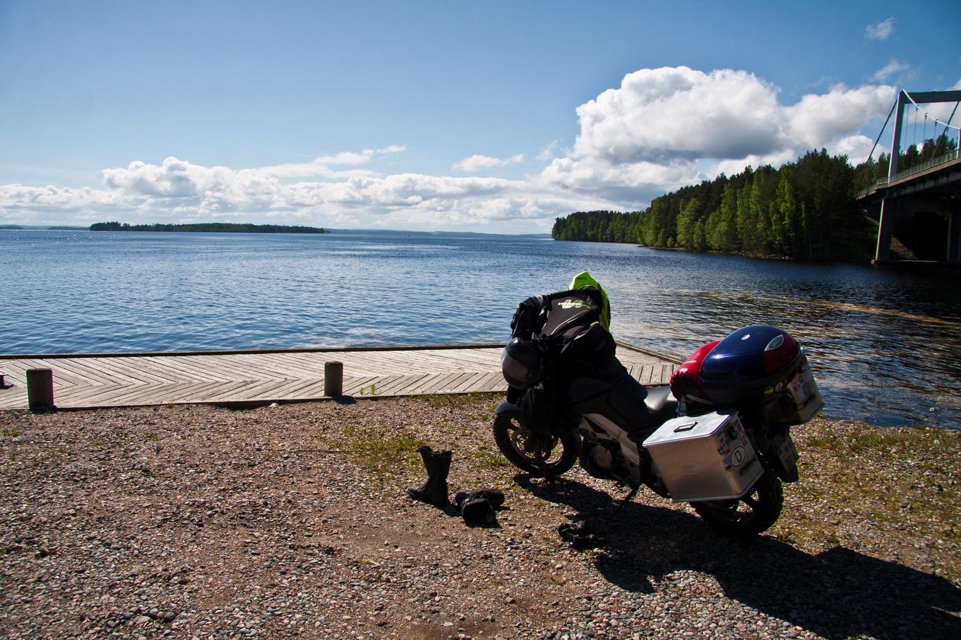 ...und finnische Seen. Hier möchte ich mal Kanu fahren.
