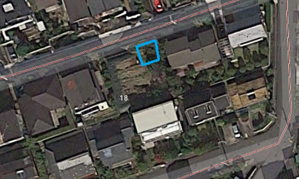 青枠内が駐車場部分