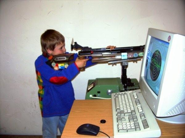 Training mit dem Lasergewehr