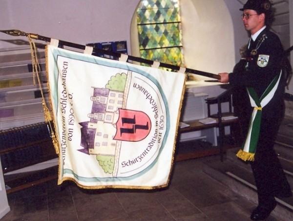 Schützenfest 2000 - Fahnenträger Thomas Dickel