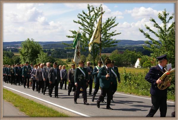 Schützenfest 2008: Einmarsch in die Residenz