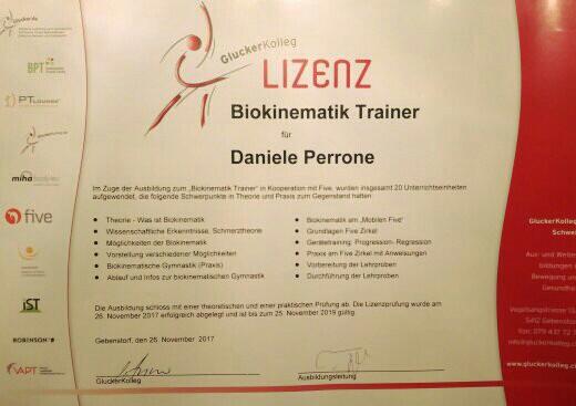 Lizenz zum Biokinematik Trainer