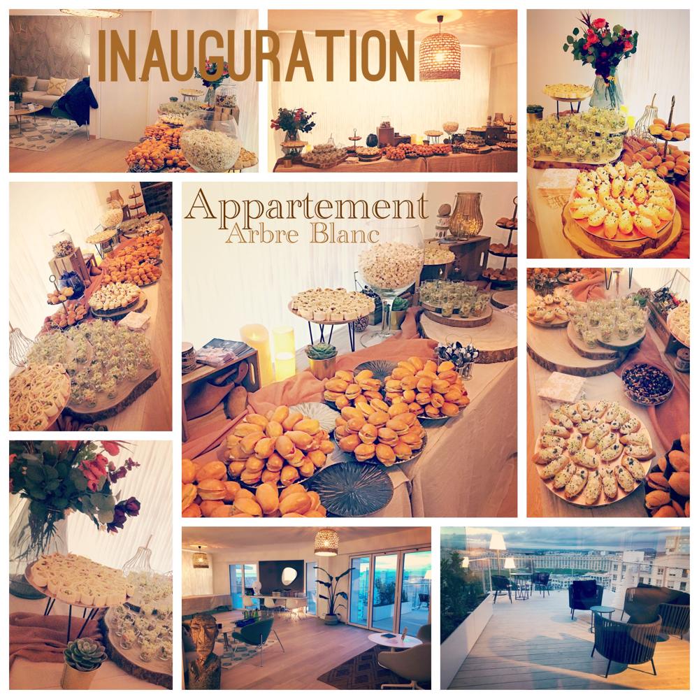 Buffet Inauguration d'un appartement de l'Arbre Blanc de Montpellier pour une centaine d'invités.