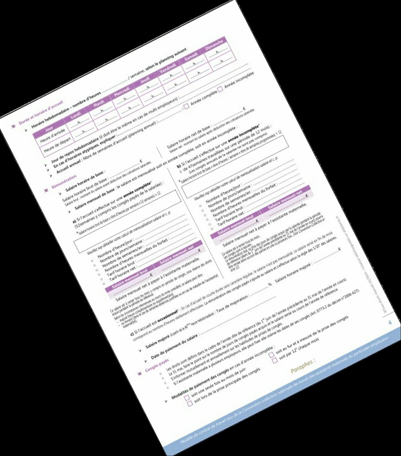 Contrat de travail - Page 4