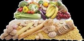 Fruits, légumes et féculents
