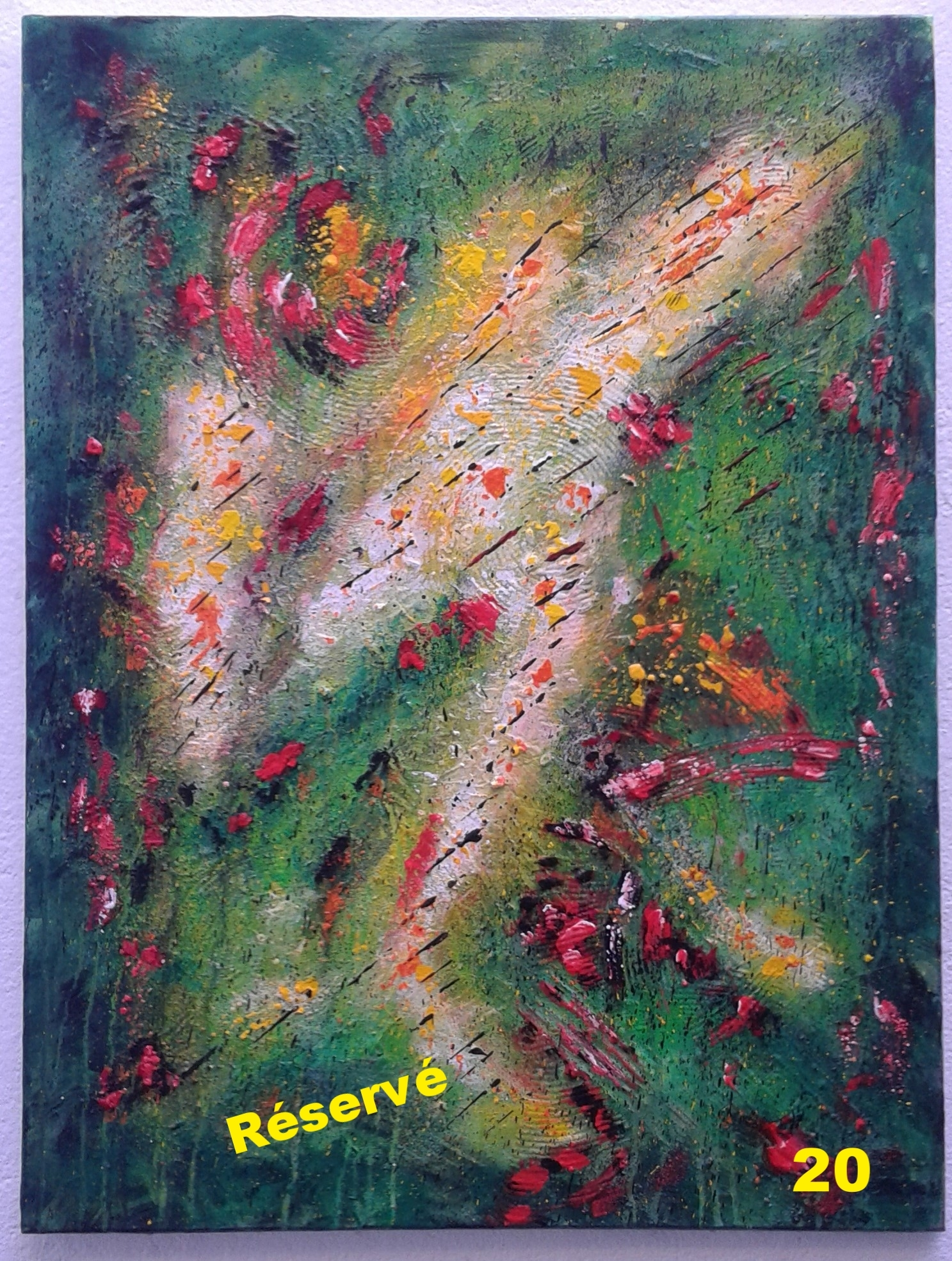 Uirentia,     tableau de 80/60/1,5, acrylique, toile coton