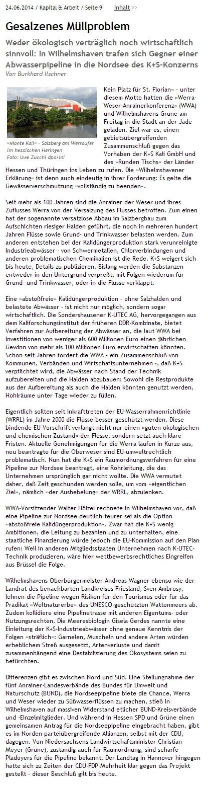 JungeWelt.de - 24.6.2014