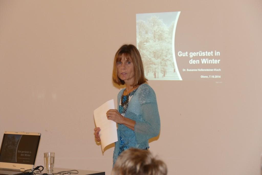 """""""Gut gerüstet in den Winter"""" mit Dr. med. Susanne Hollensteiner-Koch Ärztin für Homöopathie"""