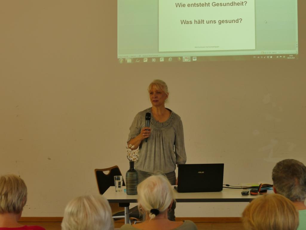 """""""Wie entsteht Gesundheit? Was hält uns gesund?"""",  mit Martina Kasper"""
