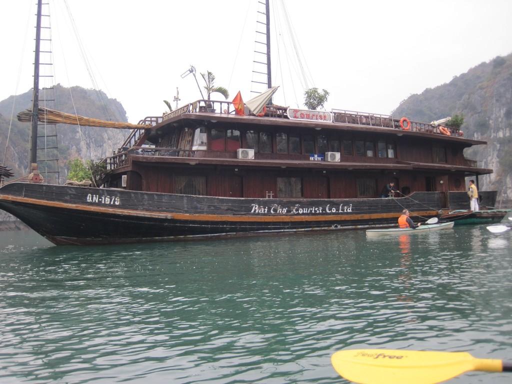 Unser Schiff auf dem Ha Long Ausflug
