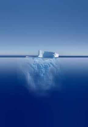 Das Unterbewusstsein entspricht dem Teil des Eisberges, der sich unter Wasser befindet - ein riesiges, ungenutztes Potential.