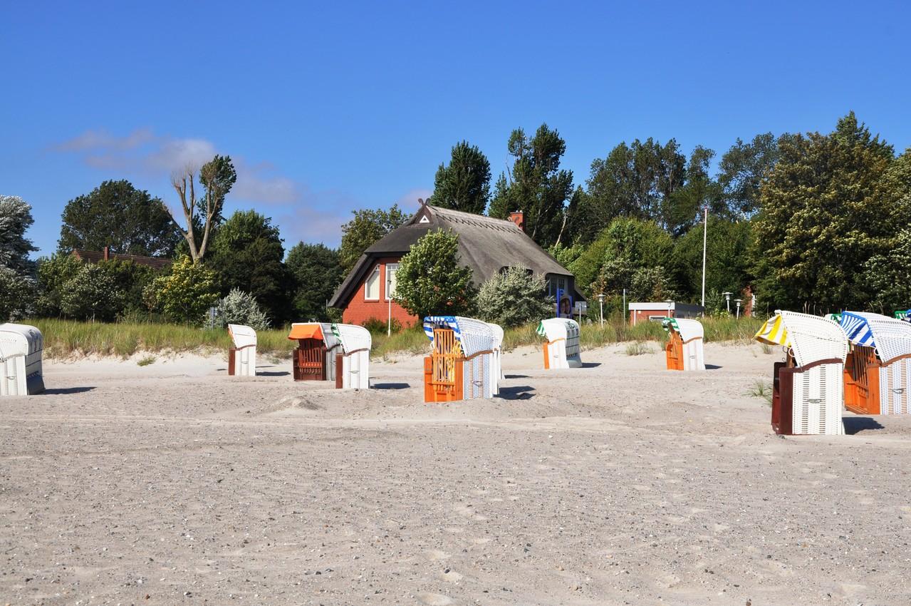 reetgedecktes Haus am Großenbroder Südstrand