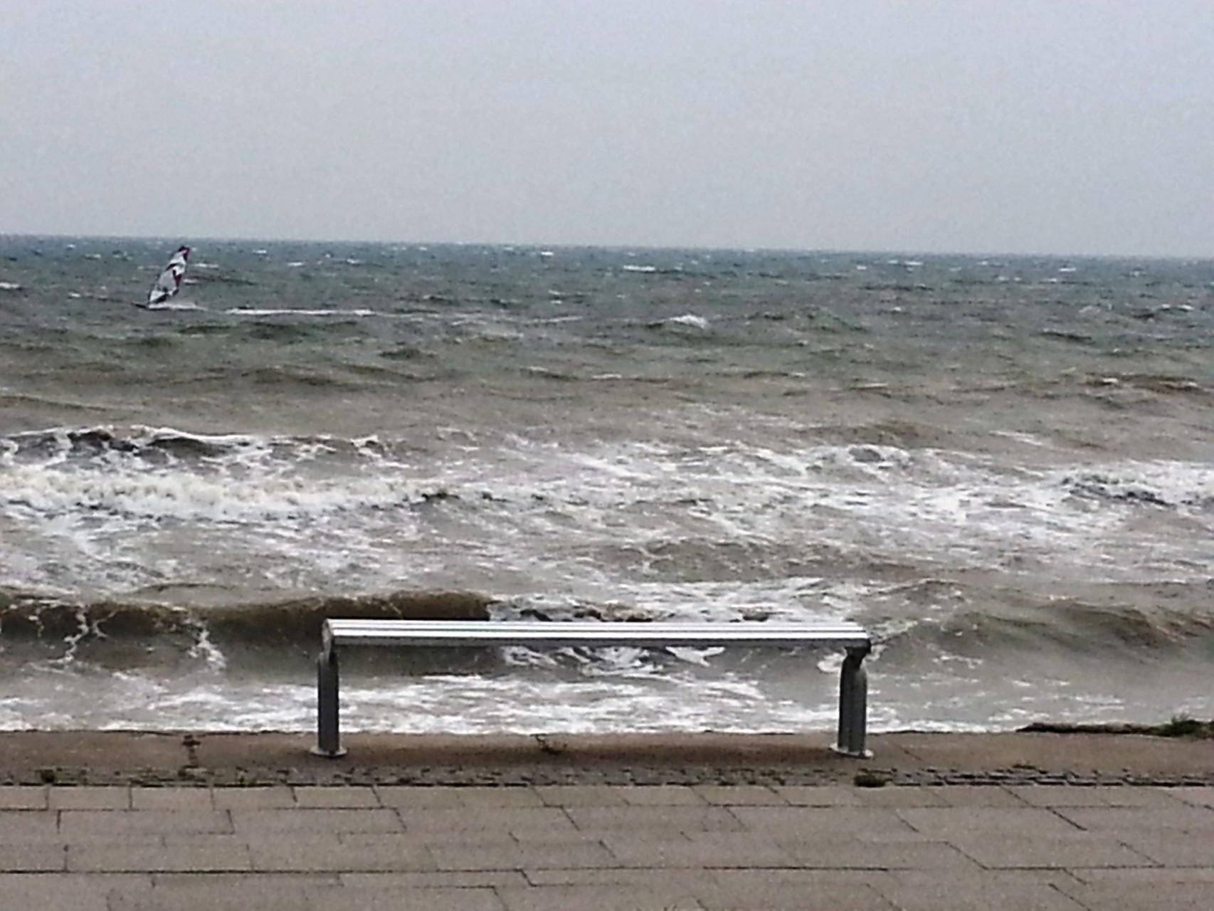 banc avec vue fantastique sur la Baltique