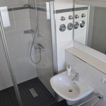 salle de bains avec douche