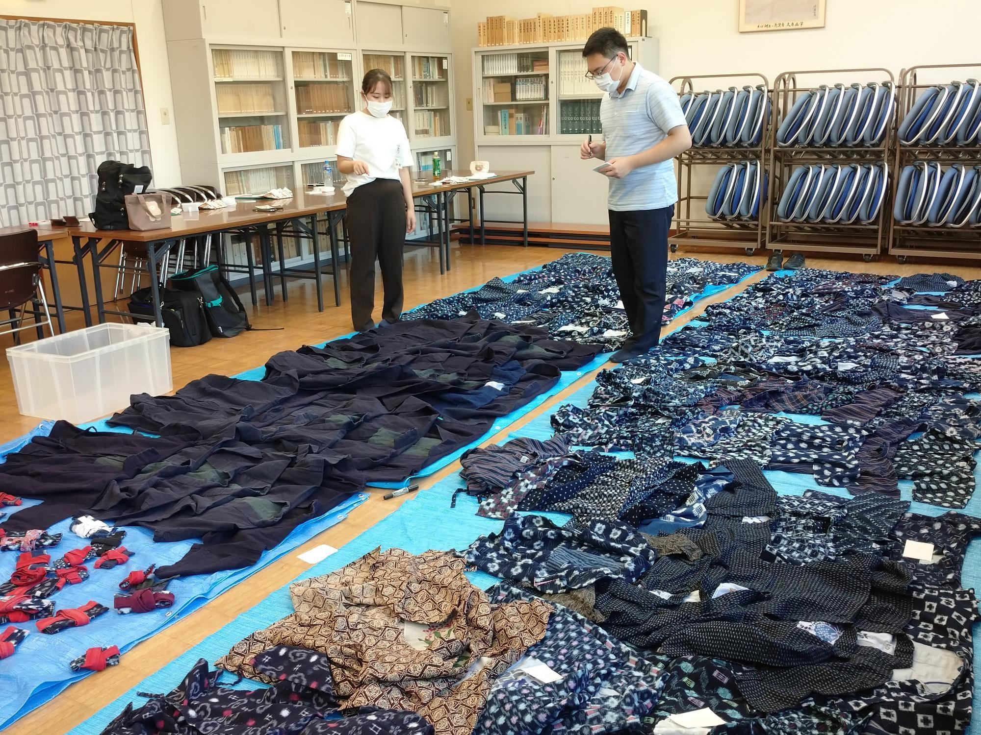 絣の着物の整理2