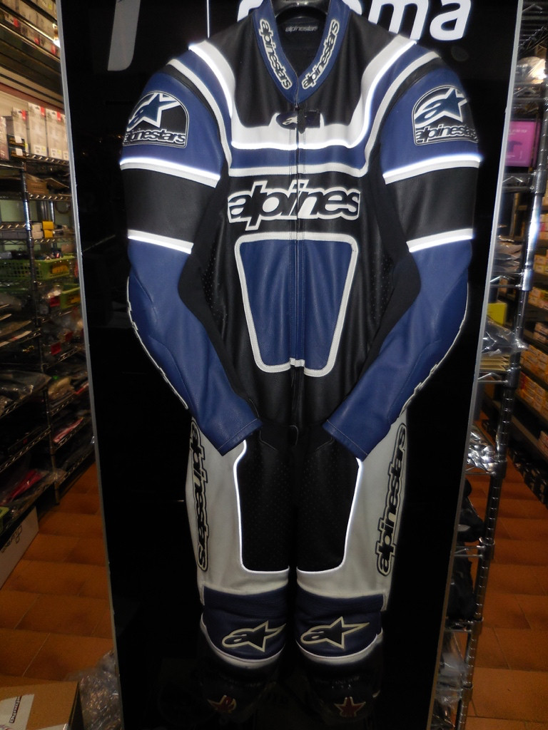 (cod.SP001) Tuta intera Alpinestars Patriot Leather Suit Blue/Black tg.50 €