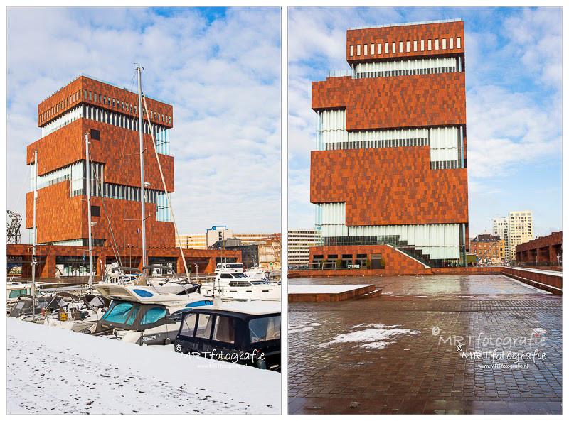 Antwerpen: Het MAS ( Museum aan de Stroom) aan de Schelde