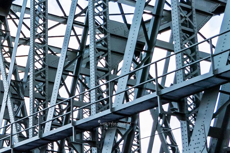 Detail van de hefbrug in Rotterdam