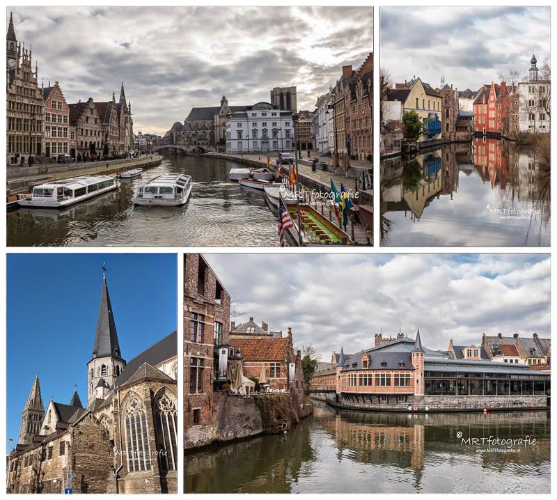 Gent- De Leie, De gras- en Korenlei, St. Jacobskerk en vernieuwde vismarkt