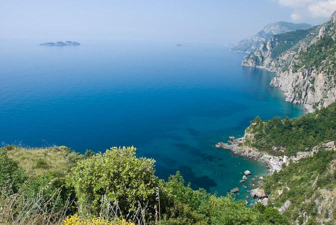 Zicht op Capri, Amalfikust, Italië