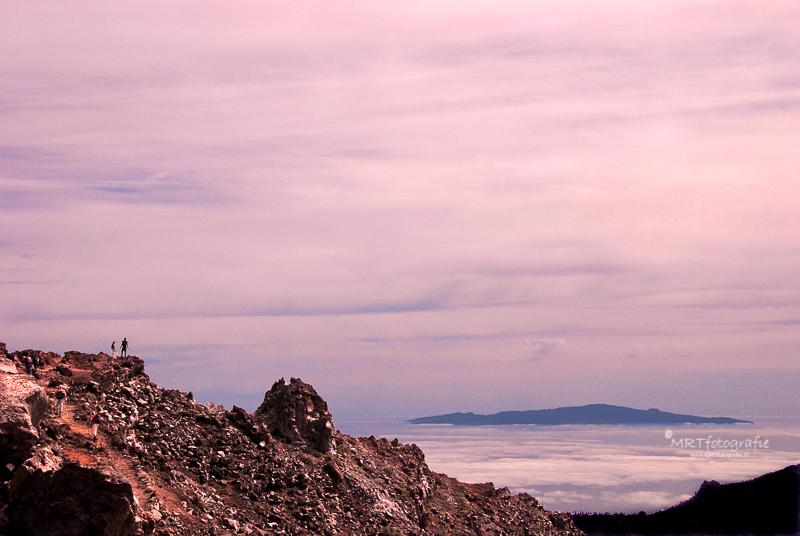 Boven de wolken op La Palma, Canarische eilanden
