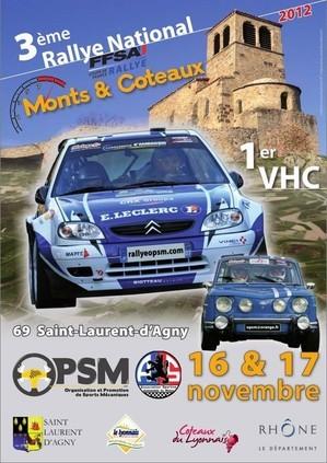 3eme rallye monts et coteaux 2012