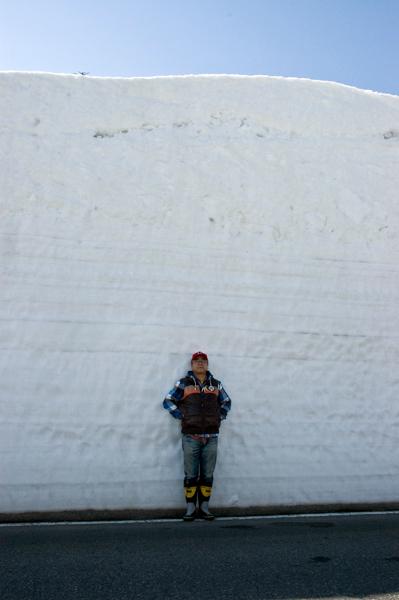 こんなに雪があります。田子の小熊の3倍ぐらいあります。