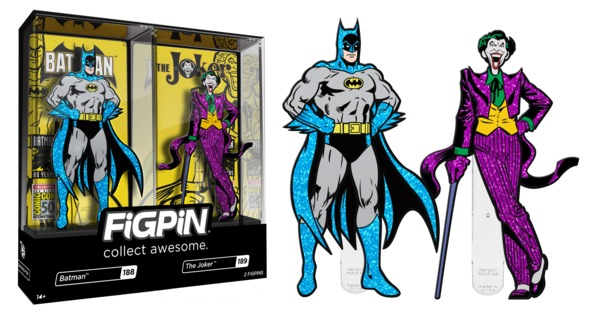 Set de pines 2019 san diego comic-con exclusivo batman 188 & joker 189
