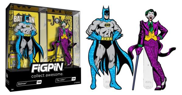 Set de pines 2019 san diego comic-con exclusivo batman 188 & joker 189