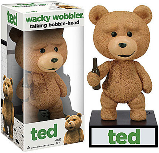 Wacky Wobbler Talking Ted Bobble Head