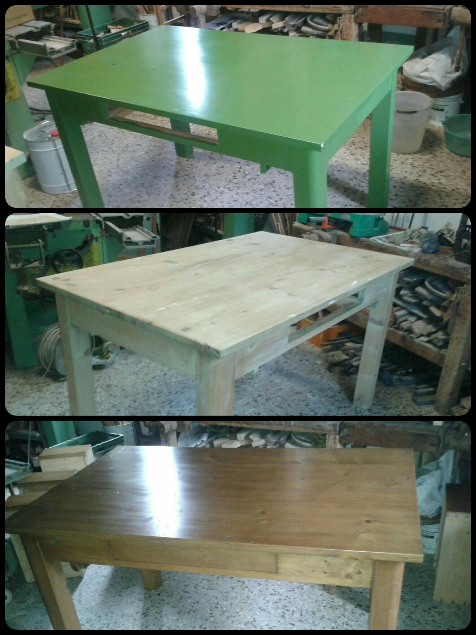 Sverniciatura e restauro tavolo